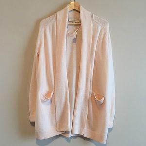 loft | textured shawl open cardigan
